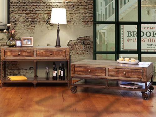 Rustic Sofa table and coffee table