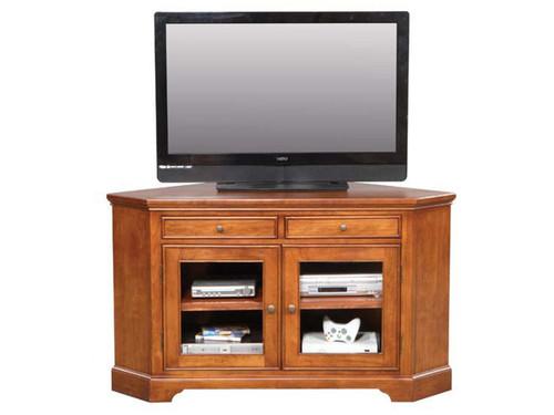 """Topaz Cinnamon 55"""" Corner TV Stand"""