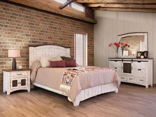 PUEBLO WHITE BED SET