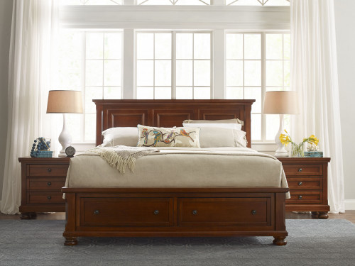 Reflections Mansion bed with Storage Footboard. Available in Queen or King Size.
