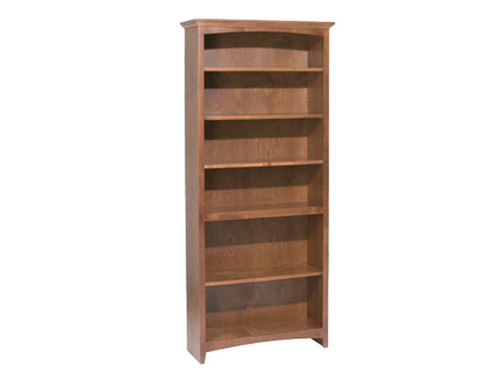 "McKenzie 24"" wide Bookcase  (shown 72"" High Cherry & 30"" w) Available in: 29"", 36"", 48"", 60"" 72"" and 84"" heights. 9 different finishes. 4 different width options: 24"", 30"" 36"" & 48"" widths"