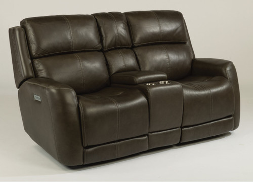 Zelda Leather Reclining Group With Power Lumbar