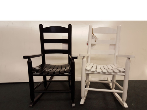 """Allison""Children's rocker shown in black or white.  Available in several other painted or stained finishes"