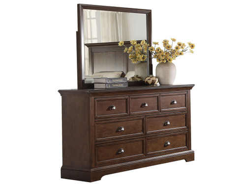 Tamarack Hazelnut 7 Drawer Dresser and Mirror