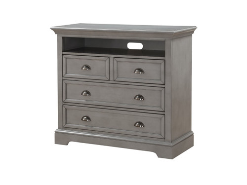 "4 drawer, 44"" TV chest Gray"
