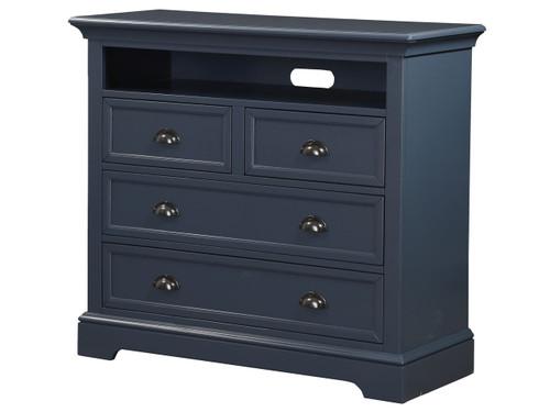 """4 drawer, 44"""" TV chest Blue"""