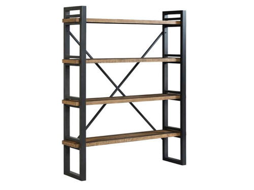 """Urban Rustic Etagère style bakers rack. Metal and rustic pine finish. 56"""" x 14"""" x 68.5"""""""