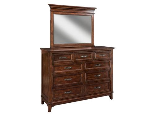 Star Valley Nine Drawer Dresser and Mirror