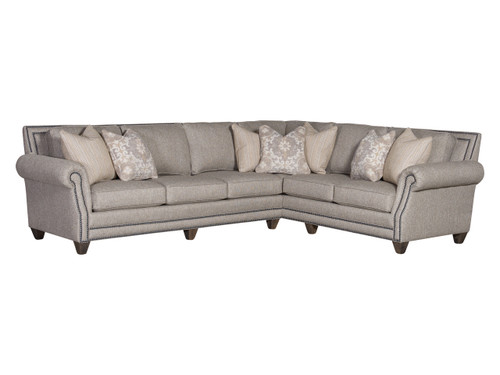 9000 Sectional with Nailhead trim