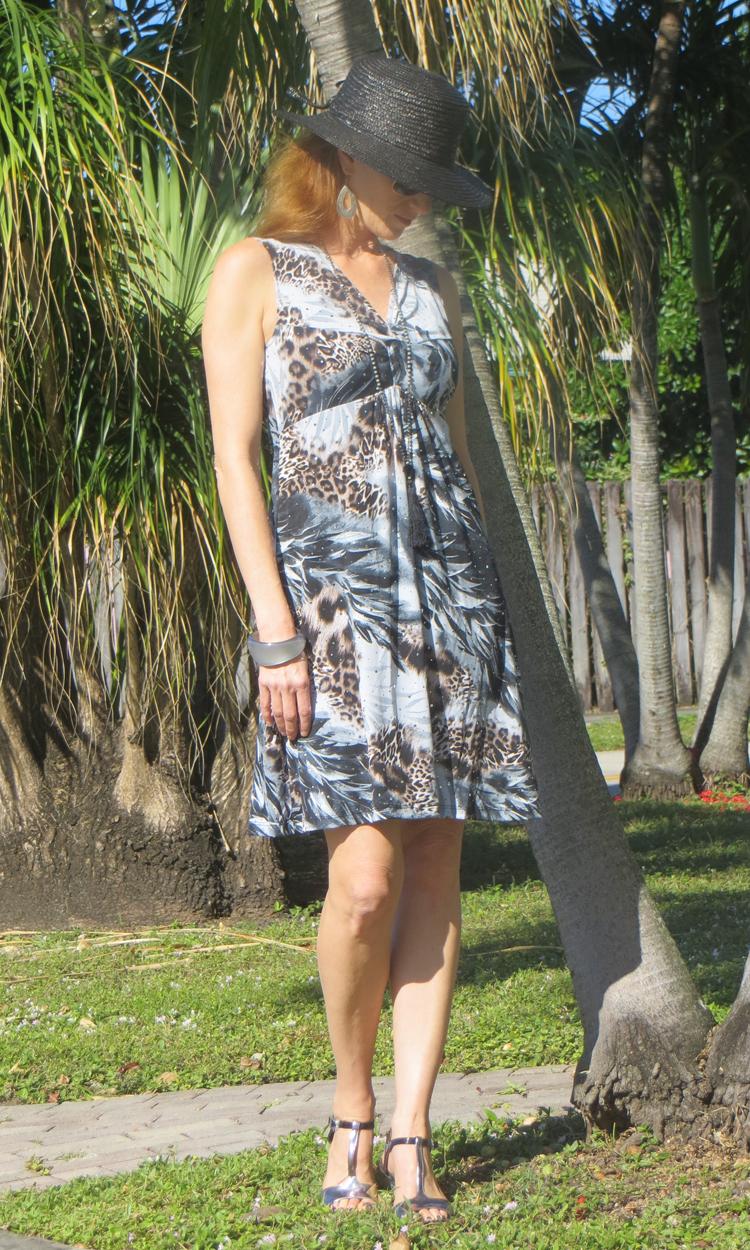 Sparkle and Slate Cheetah Short Twist Dress