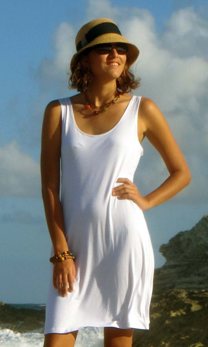Solid Jersey Tank Dress