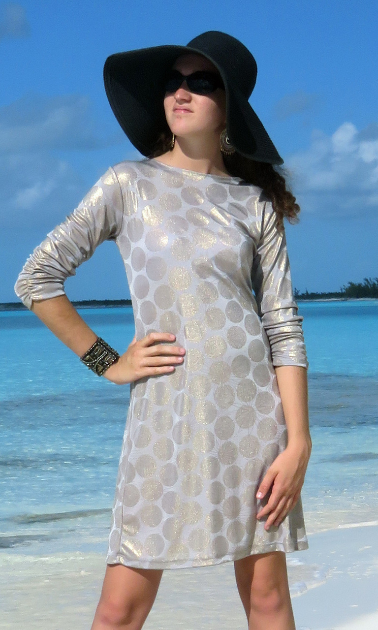 Gold Dot Julie Dress