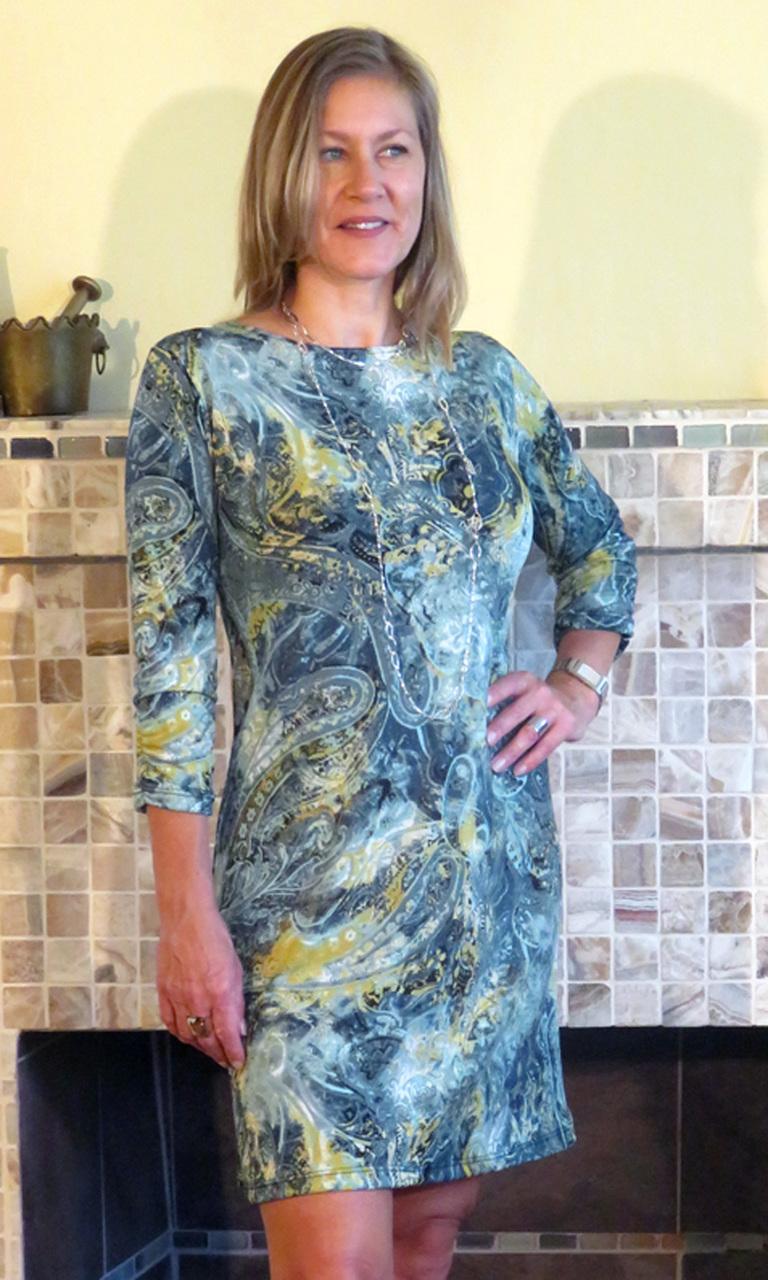Sage Paisley Julie Dress