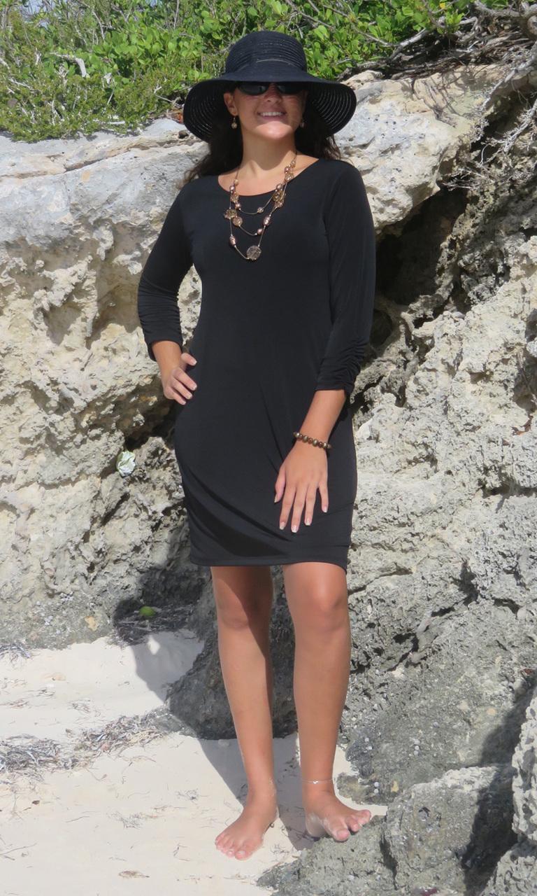 Solid Black Julie Dress