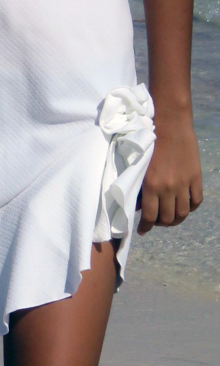 Textured White Flip Dress