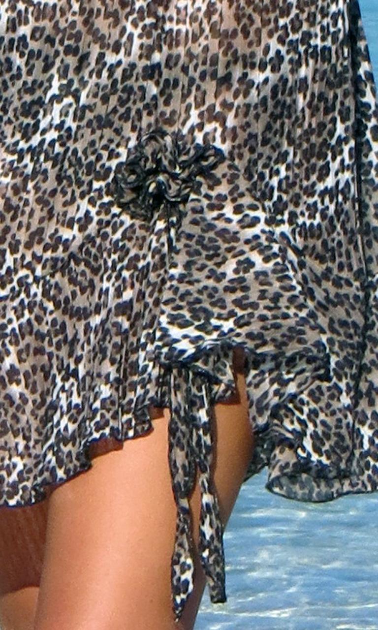 Pleated Animal Flip Dress
