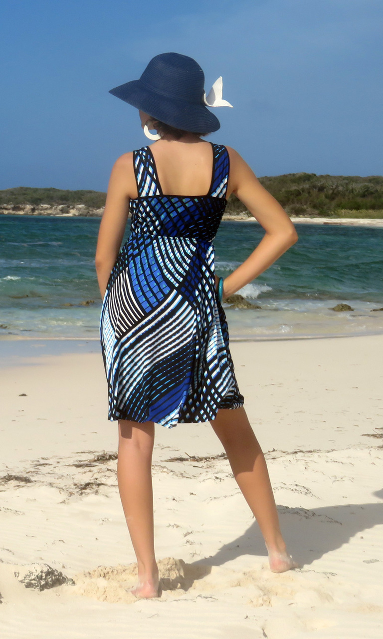 Ultramarine Short Wrap Dress-ONLY LARGE AVAILABLE!!