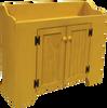 Shown in Old Mustard with beadboard doors