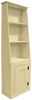Cantback hutch shown in Solid Cream with a beadboard door