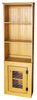 Straight hutch shown in Old Mustard with a screen door
