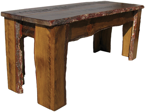 Natural Pine wood is coated with a sealant - color and detail vary with every piece