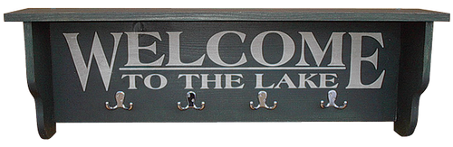 Shown in Old Black with hooks and lettering from a 9x36 sign