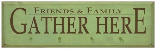 Shown in Old Celery with pegs and Brown lettering from a 9x36 sign