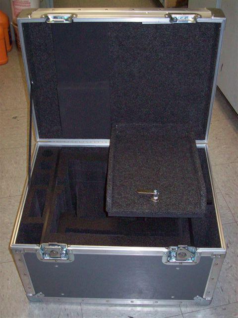 Alexa Camera ATA Shipping Case - Interior View Drop Lid