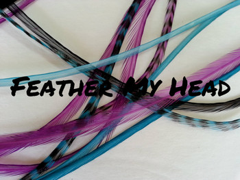 Do it yourself feather extension kits diy feather hair extensions 16 pc mix of thin fashion euro feathers long 9 solutioingenieria Image collections