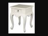 QUEEN ANNA (LT 001 QA)1 DRAWER LAMP TABLE - WHITE - (MODEL 17-21-5-5-14-1-14-14)