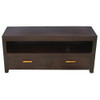 MILAN  2 DRAWER LOW ENTERTAINMENT UNIT ( SB 002 PNM) -  1200(W) -MAHOGANY OR CHOCOLATE(PICTURED)
