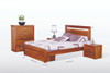QUEEN VODKA (217) BED WITH UNDERBED STORAGE DRAWERS - NATURAL