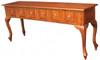 QUEEN ANNA 6 DRAWER SOFA TABLE  ( - ST 006 QA)-  760(H) X 1800(W) X 400(D) - MAHOGANY OR CHOCOLATE