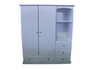 GEORGE WARDROBE WITH STANDARD WOODEN KNOBS (NOT AS PICTURED) -1800(H) X 1200(W) - PRICED IN ASSORTED COLOURS (VIC ASH AND PINE OPTIONS ALSO AVAILABLE - PRICE ON APPLICATION) - CUSTOMISATION AVAILABLE