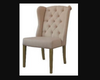ROYALE (V-1083) FABRIC LINEN DINING CHAIR - BEIGE