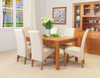 MOUNTAIN ASH 7 PIECE DINING SETTING WITH TAPERED LEGS AND 6 LEATHERETTE CHAIRS (DARK CHOCOLATE OR CREAM) - 1800(L) X 1000(W)
