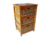 MEXICALI CANE STORAGE DRAWERS / CABINET WITH 3 DRAWERS (V-MEX-3D) (MODEL 13-5-24-9-3-1-14-1) - AMERICAN HERITAGE