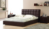 QUEEN VELLETRI LEATHERETTE BED (3050) - ASSORTED COLOURS