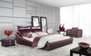 RHO KING 3 PIECE BEDSIDE BEDROOM SUITE  - LEATHERETTE - ASSORTED COLOURS