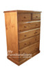 YORK TALLBOY 6 DRAWER SPLIT - ASSORTED COLOURS