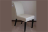 RAY DINING CHAIR  - WHITE WITH WENGE LEGS