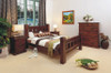 RUSTIC KING 3 PIECE BEDSIDE BEDROOM SUITE
