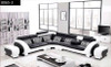 ANGEL (A1153B) CORNER LOUNGE SUITE COMBINATION LEATHER/ETTE - ASSORTED COLOURS AVAILABLE