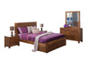 CUBA DOUBLE OR QUEEN 5 PIECE DRESSING TABLE BEDROOM SUITE WITH UNDERBED STORAGE DRAWERS - DRIFTWOOD EARTH