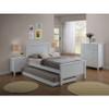 SINGLE EMPRESS HARDWOOD/MDF BED (2-18-15-4-9-5) - WHITE
