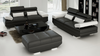 GORICA (K5009E) 3 SEATER + 3 SEATER + 1 FOOT STOOL     - CHOICE OF LEATHER AND ASSORTED COLOURS AVAILABLE