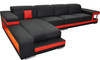 FLORENZO (G8017C)  LEATHER  CHAISE LOUNGE SUITE - CHOICE OF LEATHER AND ASSORTED COLOURS AVAILABLE