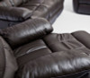 SKYLINE SINGLE RECLINER  SOFA ONLY -  100% LEATHER - CHOCOLATE OR BLACK