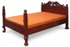 JEPARA QUEEN  4 POSTER(BS 400 CV) 3 PIECE BEDSIDE BEDROOM SUITE- MAHOGANY