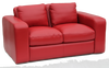 JOH 2 SEATER SOFA - 100% COW LEATHER  - ASSORTED COLOURS
